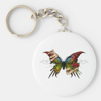Mariposa bonita llaveros personalizados