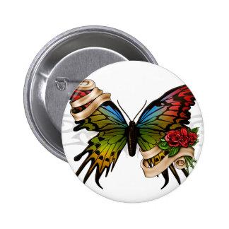 Mariposa bonita pin redondo 5 cm