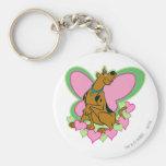 Mariposa bonita Scooby de Scooby Llavero Redondo Tipo Pin
