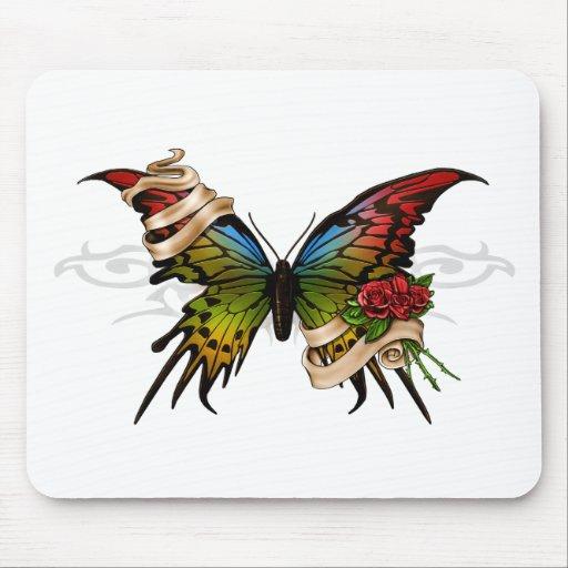 Mariposa bonita alfombrilla de ratón