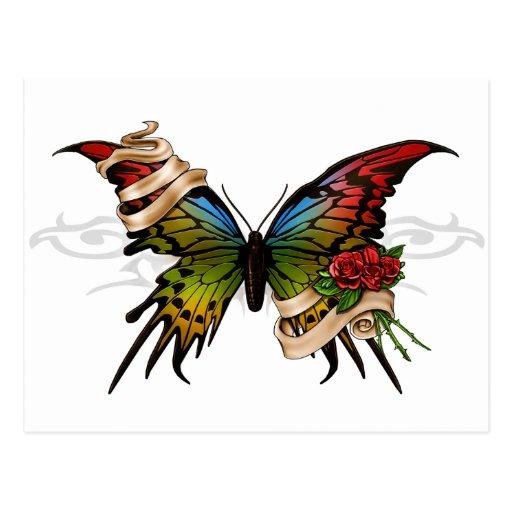 Mariposa bonita tarjetas postales