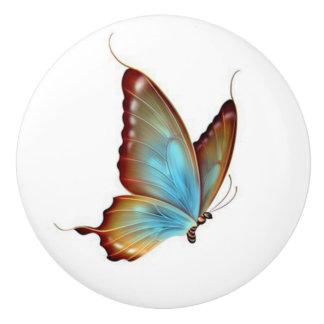 Mariposa/botón de cerámica pomo de cerámica
