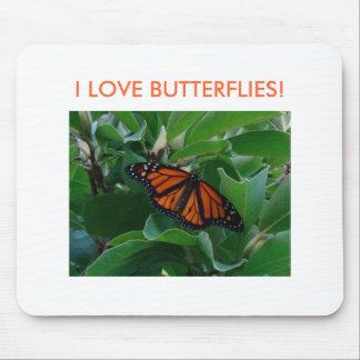 ¡Mariposa brillante de Monach, AMO MARIPOSAS! Alfombrilla De Ratones