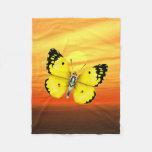 Mariposa brillante manta de forro polar