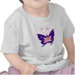 Mariposa británica de la diva camisetas