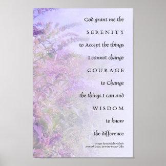 Mariposa Bush del rezo de la serenidad Posters