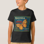 Mariposa Butterfly Apples Fruit Crate Label T-Shirt