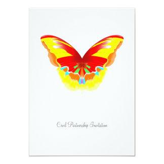 Mariposa caliente - invitación civil de la