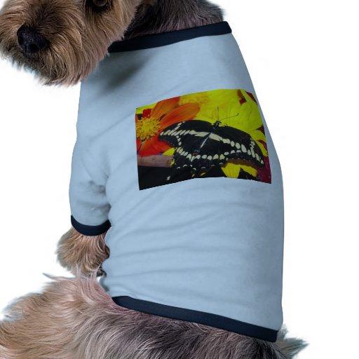 Mariposa Camiseta Con Mangas Para Perro