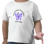 Mariposa cáncer anal/rectal de 6,1 del tatuaje del camisetas