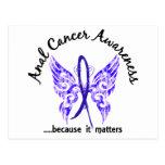 Mariposa cáncer anal/rectal de 6,1 del tatuaje del postales