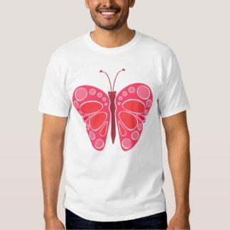 Mariposa caprichosa de la cereza 60s playeras