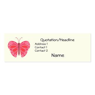 Mariposa caprichosa de la cereza 60s tarjetas de visita mini