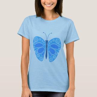 Mariposa caprichosa del arándano 60s playera
