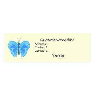 Mariposa caprichosa del arándano 60s tarjetas de visita mini