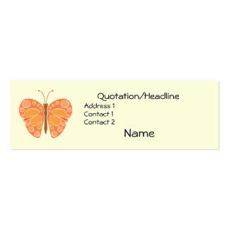 Mariposa caprichosa del mandarín 60s tarjetas de visita mini