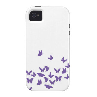 Mariposa caprichosa iPhone 4 carcasas