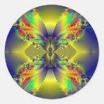 Mariposa celestial pegatinas redondas