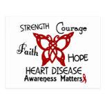 Mariposa céltica 3 de la enfermedad cardíaca tarjetas postales