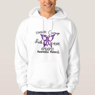 Mariposa céltica 3 de la epilepsia suéter con capucha