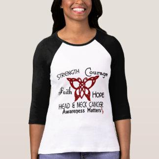 Mariposa céltica 3 del cáncer de cabeza y cuello camiseta