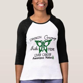 Mariposa céltica 3 del cáncer de hígado poleras
