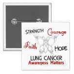 Mariposa céltica 3 del cáncer de pulmón pin