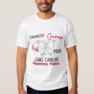 Mariposa céltica 3 del cáncer de pulmón playeras