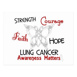 Mariposa céltica 3 del cáncer de pulmón tarjetas postales