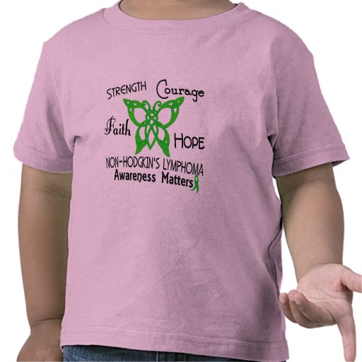 Mariposa céltica 3 del linfoma de Non-Hodgkins Camiseta