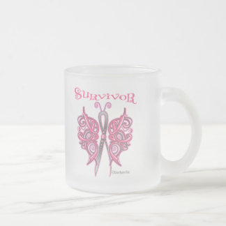 Mariposa céltica del superviviente - cáncer de pec tazas de café