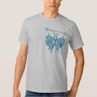 Mariposa céltica del superviviente - cáncer de remeras