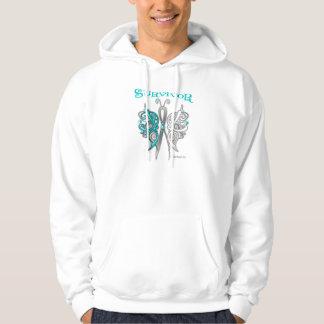 Mariposa céltica del superviviente - cáncer de sudaderas
