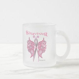 Mariposa céltica del superviviente - cáncer de taza de cristal