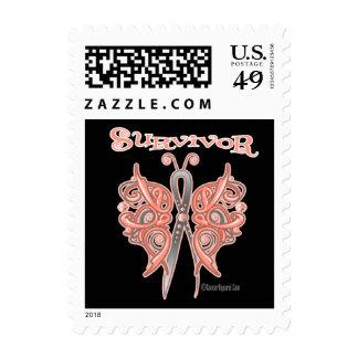 Mariposa céltica del superviviente - cáncer sellos
