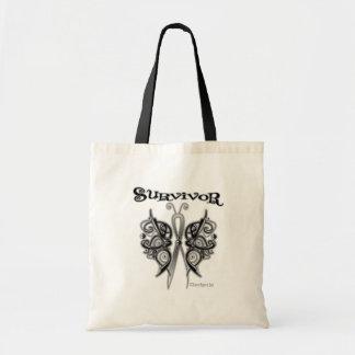 Mariposa céltica del superviviente - melanoma bolsa de mano