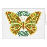 Mariposa céltica tarjeta de felicitación