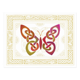 Mariposa céltica tarjetas postales