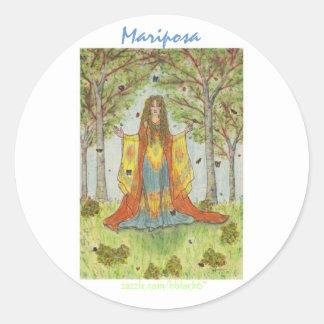 Mariposa Classic Round Sticker