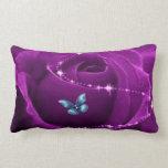 mariposa color de rosa y azul púrpura cojines