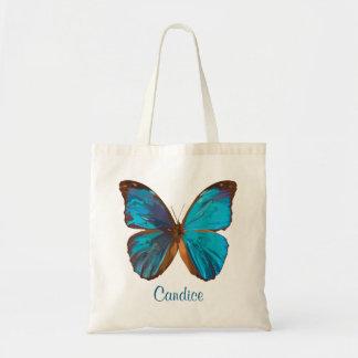 Mariposa coloreada gema tropical del azul y de la