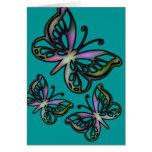 Mariposa colorida 1 tarjeta de felicitación