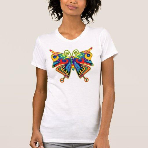 Mariposa colorida bonita camiseta