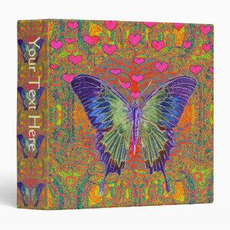 "Mariposa colorida carpeta 1 1/2"""