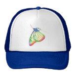 Mariposa colorida gorra