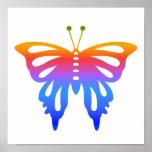 Mariposa colorida impresiones