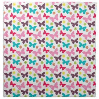 Mariposa colorida linda, modelo de mariposas servilletas