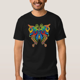 Mariposa colorida remeras