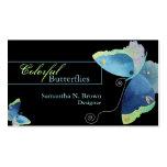 Mariposa colorida: Tarjetas de visita del diseñado