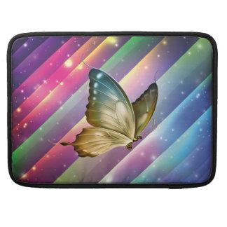 Mariposa colorida única del verano funda para macbook pro